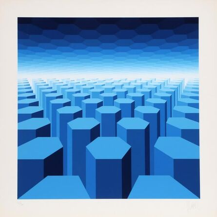 Jean-Pierre Vasarely, '50 Shades of Blue', 1976
