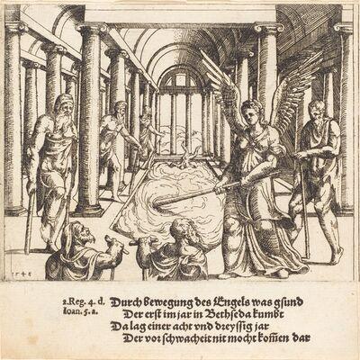Augustin Hirschvogel, 'The Angel Agitating the Pool of Bethesda', 1548