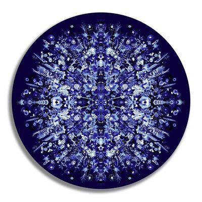 Carlos Betancourt, '56-04 Re-Collections XVI, Azul', 2016