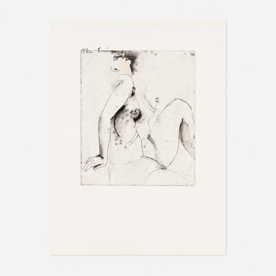 Jim Dine, 'The Swimmer (from Eight Sheets from an Undefined Novel)', 1976