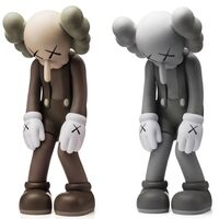 KAWS, 'KAWS Small Lie set of 2 Brown and Grey (KAWS Companion set)', 2017