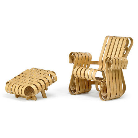 Frank Gehry, 'Power Play lounge chair and ottoman, USA', 2001