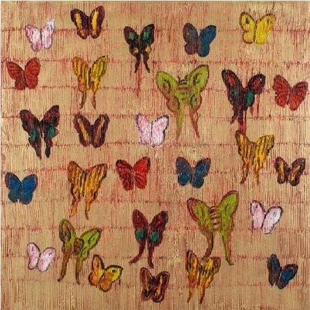 Hunt Slonem, 'Red Butterfly', 2019