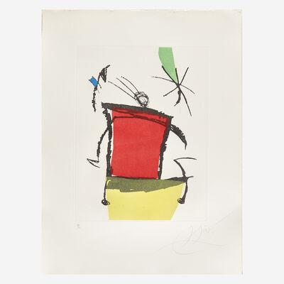 Joan Miró, 'Chanteur des Rues Plate V', 1981