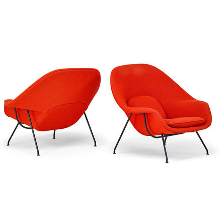 Eero Saarinen, 'Pair of Womb chairs, New York', 1970s