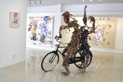 """Dominique Zinkpe - """"Comédie humaine"""" - Solo exhibition"""