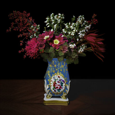 T.M. Glass, 'Red and White Bouquet in a Sevres Vessel', 2018