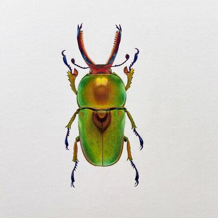 Hannah Hanlon, 'Green Beetle #3', 2020