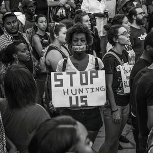 Ryan Vizzions, 'Black Lives Matter Rally after the family of Alton Sterling spoke following the shooting deaths of Philando Castile and Alton Sterling, Piedmont Park, Atlanta, 2016 '