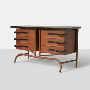 Jacques Quinet, 'Jacques Quinet Commode in Leather', ca. 1960