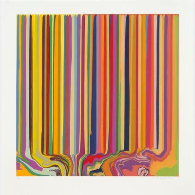 Ian Davenport, 'Duplex Etching: Yellow, Orange', 2014