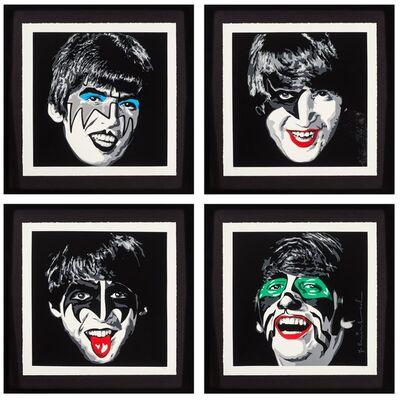 Mr. Brainwash, 'Kiss the Beatles, set of four', 2010