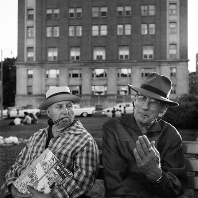 Vivian Maier, '0119363, Two Old Guys on a Bench', 2015