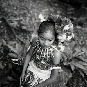 Tony Gleaton, 'Langi,  Wearing a Siapo (Bark Cloth) Dress, Western Samoa', 2000
