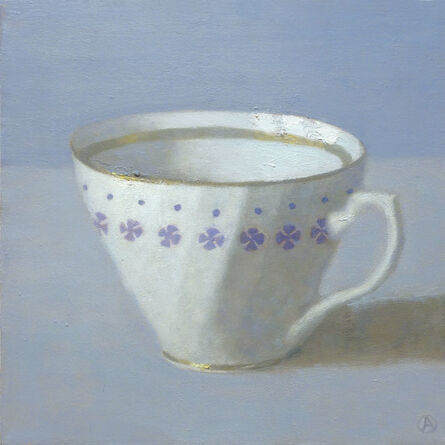 Olga Antonova, 'White Cup on Periwinkle', 2014