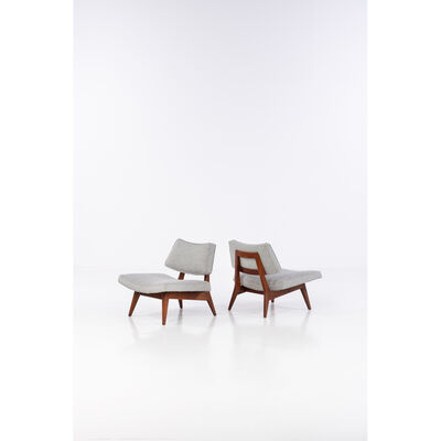 Jens Risom, 'Pair of Easy Chairs', 1957