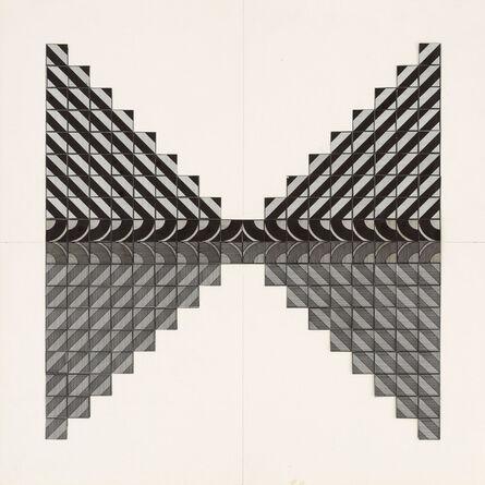 """Karl Heinz Adler, '""""Spiegelung"""", Gestaltung mit zwei unterschiedlichen Elementen', 1971-74"""
