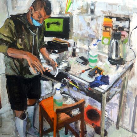 Miguel Ángel Garrido, 'Preparando starter', 2015