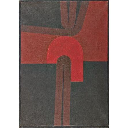 Omar Rayo, 'Emergence into Red', 1961