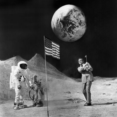 Terry O'Neill, 'Sean Connery playing golf on the moon (Estate Edition)', 1971