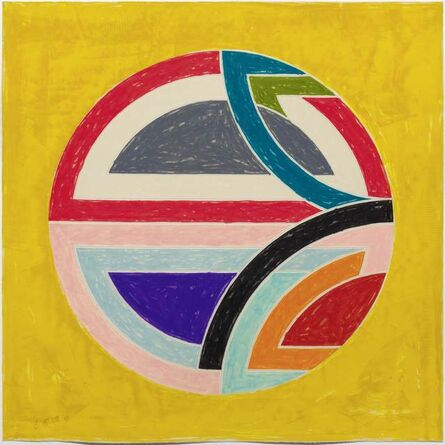 Frank Stella, 'Sinjerli Variation Squared with colored ground', 1981