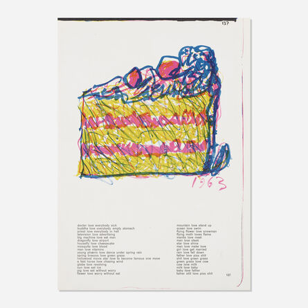 Claes Oldenburg, 'Untitled (from the One Cent Life portfolio)', 1964