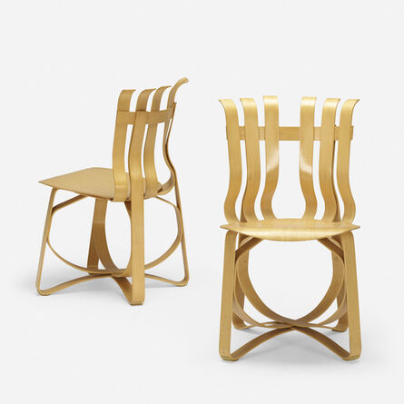 Frank Gehry, 'Hat Trick chairs, pair', 1999