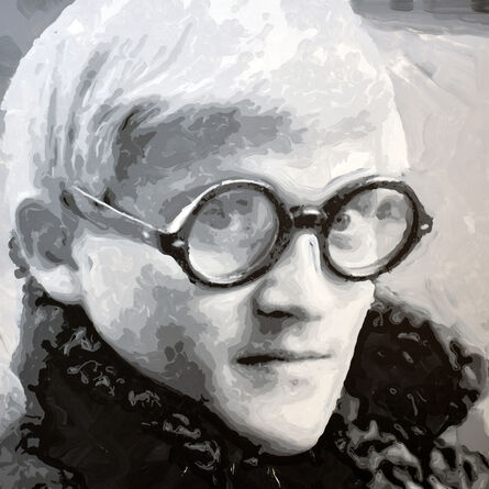 Rob and Nick Carter, 'David Hockney Robot Painting, Painting time: 37:40:04 Stroke count: 11,854 15-17 January 2020', 2020
