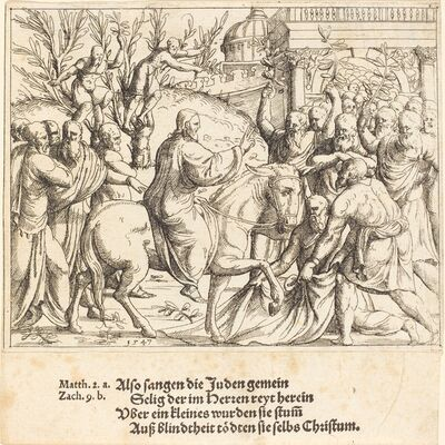 Augustin Hirschvogel, 'The Entry into Jerusalem', 1547