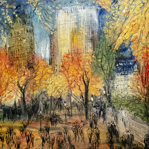 Layla Fanucci, 'Fall in Central Park Opus 1880', 2020