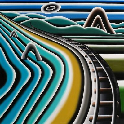 Andreas Schulze (b. 1955), 'Gleise am Meer', 2013