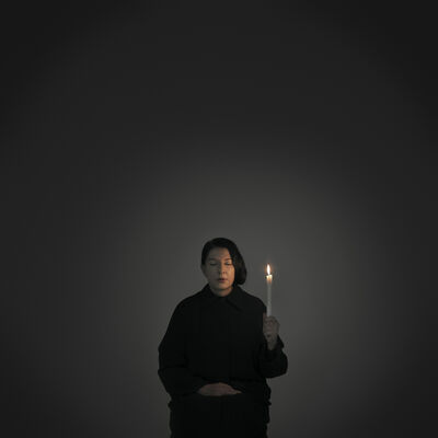 """Marina Abramović, 'Artist Portrait with a Candle (A) (from the series """"With Eyes Closed I See Happiness"""")', 2012"""