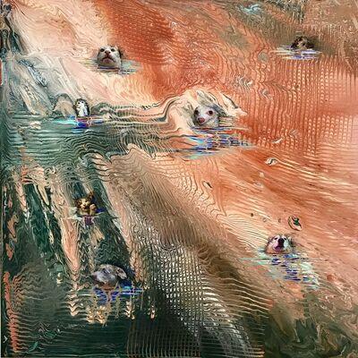 Barbara Strasen, 'Swimming (Sepia)', 2019
