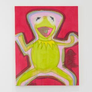 Liz Markus, 'Kermit with Pink Aura and Red Background', 2020