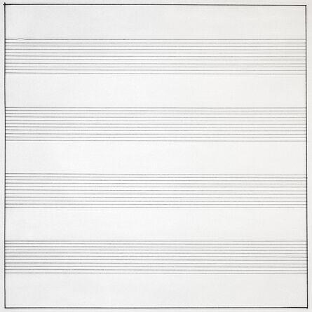 Agnes Martin, 'Untitled #10', 1990