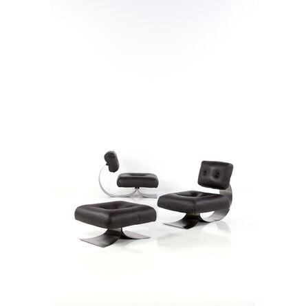Oscar Niemeyer, 'Pair of armchairs and an ottoman', circa 1970