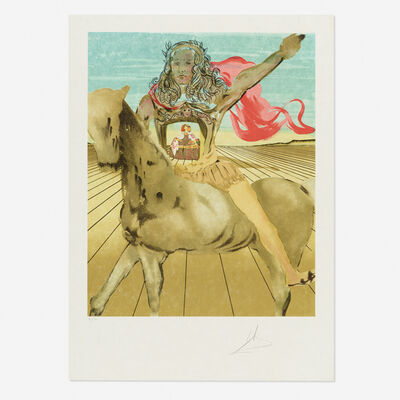 Salvador Dalí, 'Chevalier surréaliste (Hommage à Velàsquez)', 1980