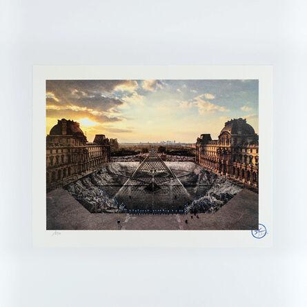 JR, 'JR au Louvre, 29 Mars 2019, 18H08 © Pyramide, Architecte I. M. Pei, Musee Du Louvre, Paris, France, 2019', 2021