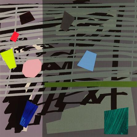 Bruce McLean, 'Green Grey Violet Shadow', 2015