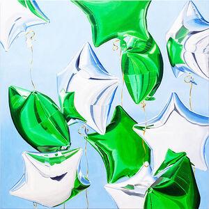 Gemma Gene, 'Green Balloons ', 2018