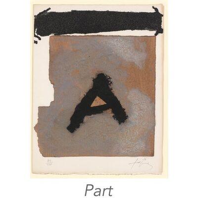 Antoni Tàpies, 'JEAN DAIVE (GALFETTI 525-529)', 1975