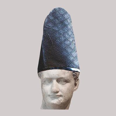 Cecilia Miniucchi, 'Roman Emperor Domitian/Blue Japanese Shinto Hat', 2018