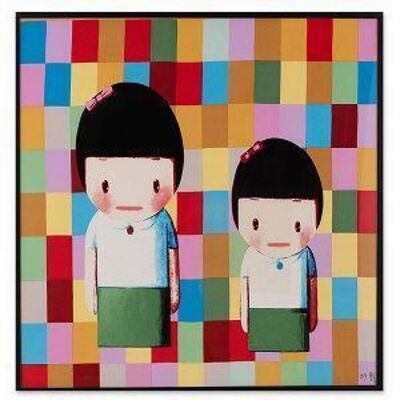 Liu Ye 刘野, 'Shanghai Expo Silk Scarf (Signed and Framed)', 2010