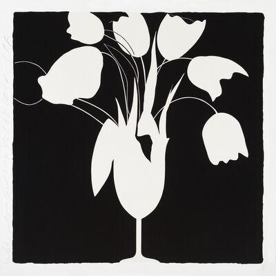 Donald Sultan, 'White Tulips and Vase, Feb 25, 2014', 2014