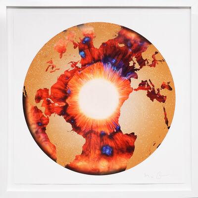 Marc Quinn, ''Iris' with Diamond Dust, Red/Gold', 2020