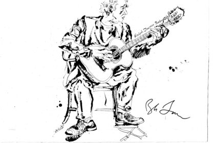 When the Music Starts: Jazz Drawings by Jonathan Glass