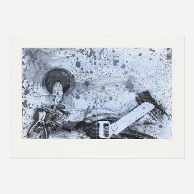Jim Dine, 'The New French Tools 5--Boulevard Victor, Double Sky', 1984