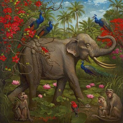 Yana Movchan, 'Jungle of Happiness'