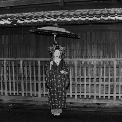 Toshio Enomoto, '084-Takasago Dayu on a slightly snowy morning', 1983