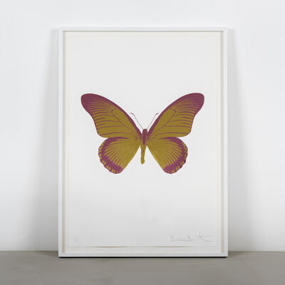 Damien Hirst, 'The Souls IV - Oriental Gold - Loganberry Pink', 2010